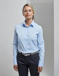 Women´s Stretch Fit Poplin Long Sleeve Cotton Shirt