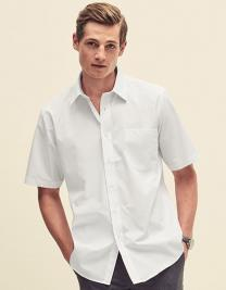 Men`s Short Sleeve Poplin Shirt