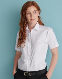 Ladies` Classic Short Sleeved Oxford Shirt
