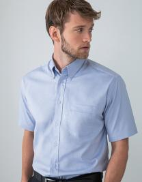 Men`s Short Sleeved Pinpoint Oxford Shirt